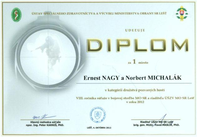 diplom - 1. miesto - kategória pozvaní hostia